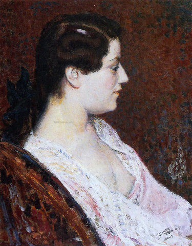 Georges Lemmen Woman with Bared Breast - Hand Painted Oil Painting