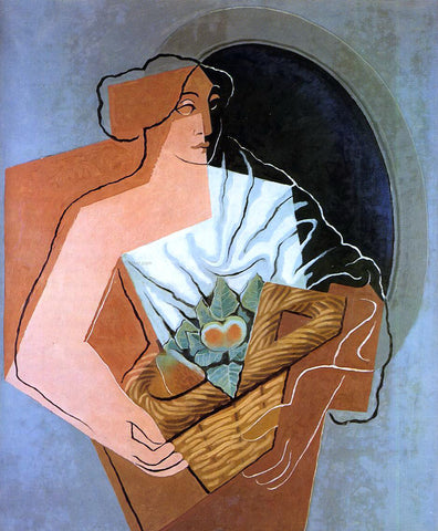 Juan Gris Woman With Basket - Hand Painted Oil Painting