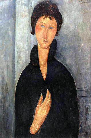 Amedeo Modigliani Woman with Blue Eyes - Hand Painted Oil Painting