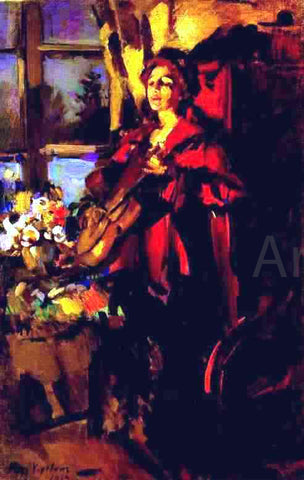 Constantin Alexeevich Korovin Woman with Guitar - Hand Painted Oil Painting