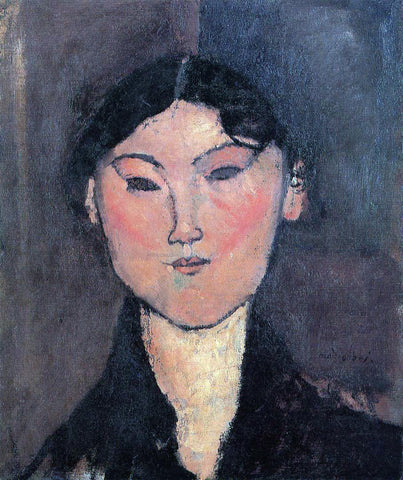 Amedeo Modigliani Woman's Head (also known as Rosalia) - Hand Painted Oil Painting