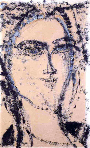 Amedeo Modigliani Woman's Head - Hand Painted Oil Painting