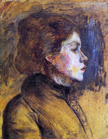Henri De Toulouse-Lautrec Woman's Head - Hand Painted Oil Painting