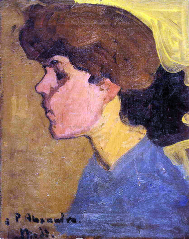 Amedeo Modigliani Woman's Head in Profile - Hand Painted Oil Painting