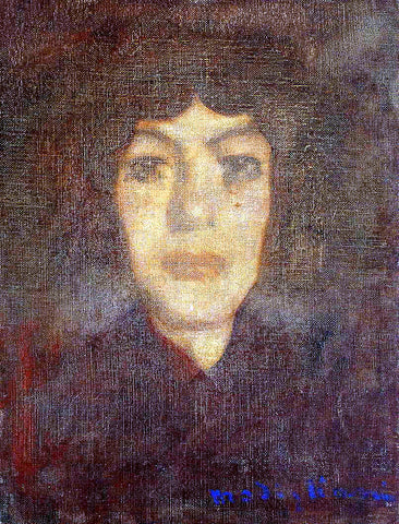 Amedeo Modigliani Woman's Head with Beauty Spot - Hand Painted Oil Painting