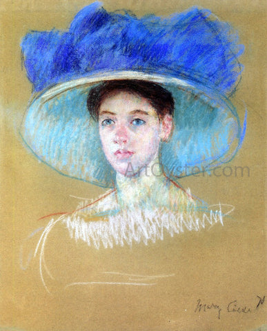 Mary Cassatt Woman's Head with Large Hat - Hand Painted Oil Painting