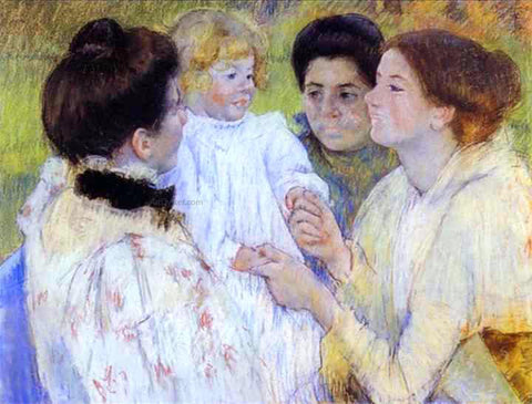 Mary Cassatt Women Admiring a Child - Hand Painted Oil Painting
