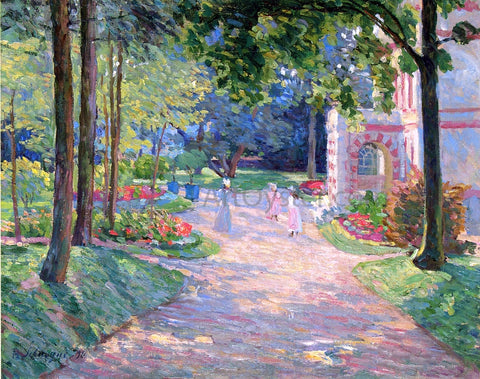Henri Lebasque Women and Children in the Parc de Dammartin - Hand Painted Oil Painting