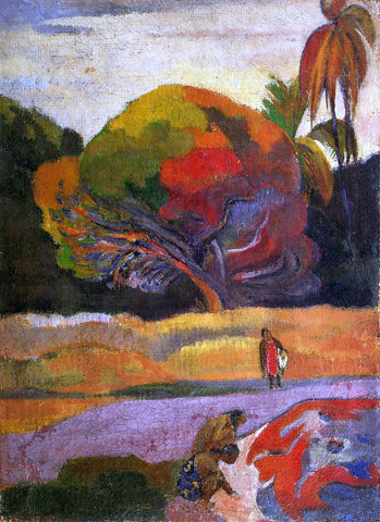 Paul Gauguin Women at the Riverside - Hand Painted Oil Painting