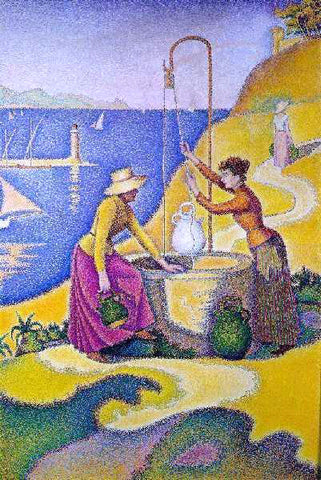 Paul Signac Women at the Well - Hand Painted Oil Painting