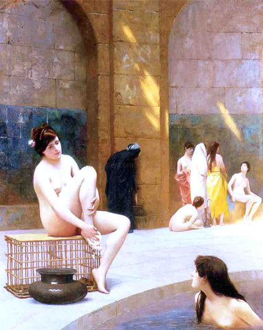 Jean-Leon Gerome Women Bathing - Hand Painted Oil Painting