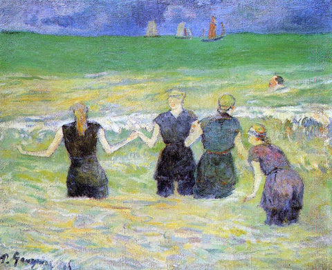 Paul Gauguin Women Bathing, Dieppe - Hand Painted Oil Painting