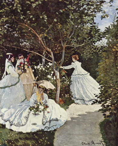 Claude Oscar Monet Women in the Garden - Hand Painted Oil Painting