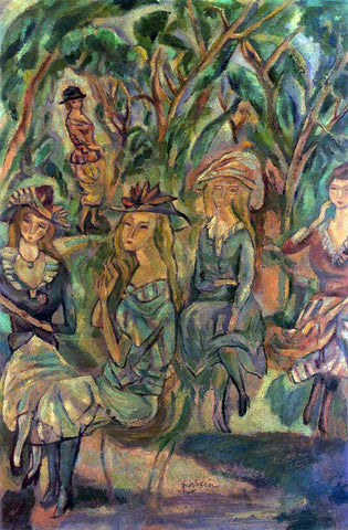 Jules Pascin Women in the Park - Hand Painted Oil Painting