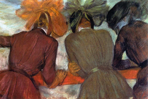 Edgar Degas Women Leaning on a Railing - Hand Painted Oil Painting