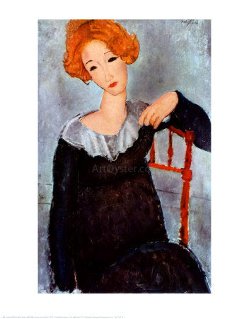 Amedeo Modigliani Women with Red Hair - Hand Painted Oil Painting