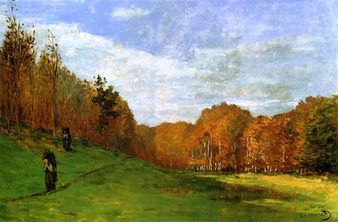Claude Oscar Monet Woodbearers in Fontainebleau Forest - Hand Painted Oil Painting