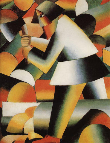 Kazimir Malevich Woodcutter - Hand Painted Oil Painting