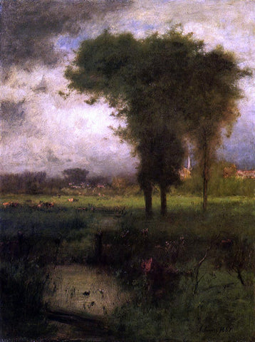 George Inness Woodland Scene - Hand Painted Oil Painting