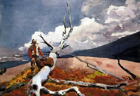 Winslow Homer Woodsman and Fallen Tree - Hand Painted Oil Painting