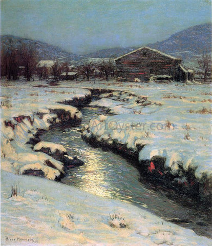 Lowell Birge Harrison Woodstock Meadows in Winter - Hand Painted Oil Painting