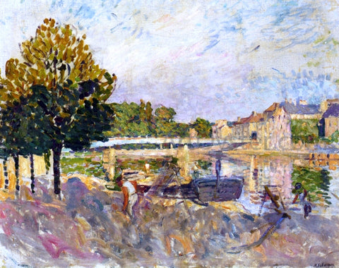 Henri Lebasque Workers on the Banks of the Marne - Hand Painted Oil Painting