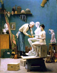 Jean-Leon Gerome Working in Marble - Hand Painted Oil Painting