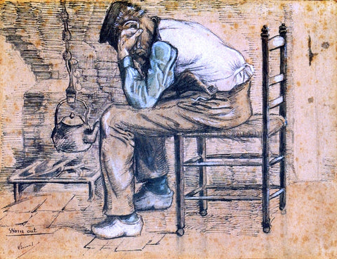 Vincent Van Gogh Worn Out - Hand Painted Oil Painting