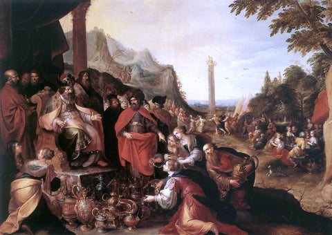 II Frans Francken Worship of the Golden Calf - Hand Painted Oil Painting