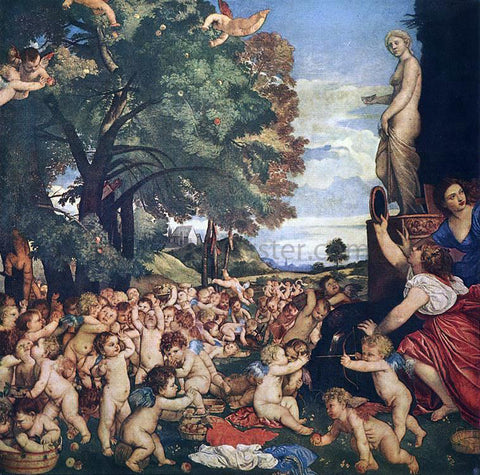 Titian Worship of Venus - Hand Painted Oil Painting