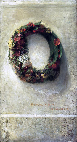 John La Farge Wreath of Flowers - Hand Painted Oil Painting