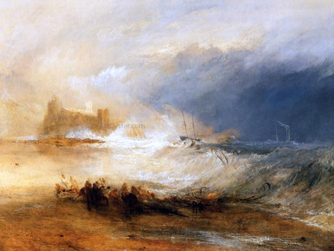 Joseph William Turner Wreckers - Coast of Northumberland - Hand Painted Oil Painting
