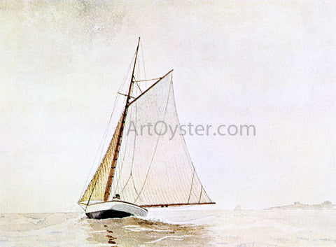 Winslow Homer Yachting, off Cloucester - Hand Painted Oil Painting
