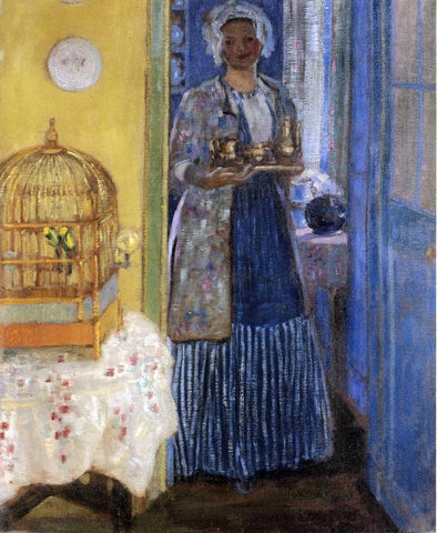 Frederick Carl Frieseke Yellow and Blue - Hand Painted Oil Painting