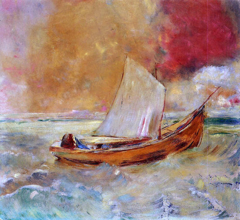 Odilon Redon Yellow Boat - Hand Painted Oil Painting