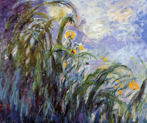 Claude Oscar Monet Yellow Irises - Hand Painted Oil Painting