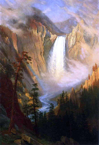 Albert Bierstadt Yellowstone Falls - Hand Painted Oil Painting