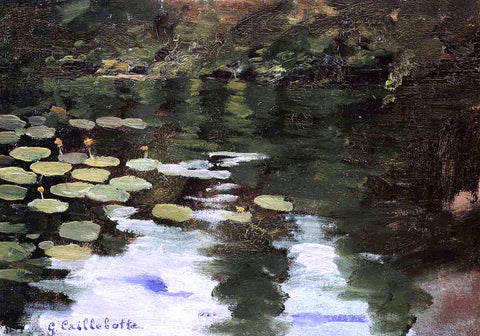 Gustave Caillebotte Yerres, on the Pond, Water Lilies - Hand Painted Oil Painting