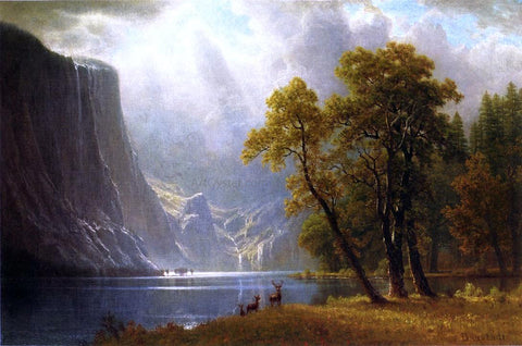 Albert Bierstadt Yosemite Valley - Hand Painted Oil Painting