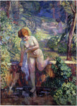 Henri Lebasque Youn girl in a garden at St. Tropez - Hand Painted Oil Painting