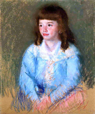 Mary Cassatt Young Boy in Blue - Hand Painted Oil Painting