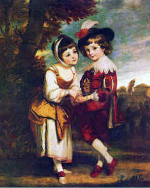 Sir Joshua Reynolds Young Fortune Teller - Hand Painted Oil Painting
