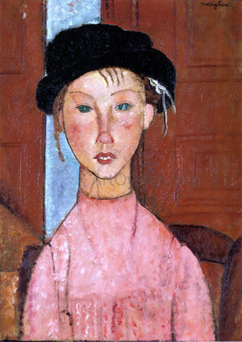 Amedeo Modigliani Young Girl in Beret - Hand Painted Oil Painting
