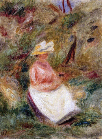Pierre Auguste Renoir Young Girl in the Woods - Hand Painted Oil Painting