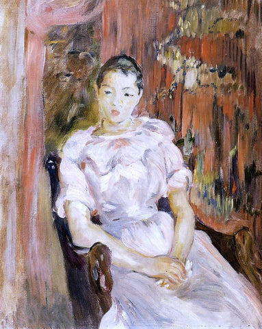 Berthe Morisot Young Girl Resting - Hand Painted Oil Painting