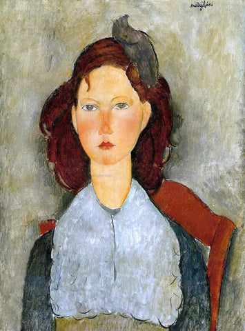 Amedeo Modigliani Young Girl Seated - Hand Painted Oil Painting