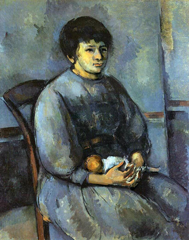 Paul Cezanne Young Girl with a Doll - Hand Painted Oil Painting