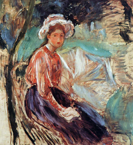 Berthe Morisot Young Girl with an Umbrella - Hand Painted Oil Painting