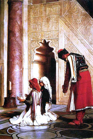 Jean-Leon Gerome Young Greeks in a Mosque - Hand Painted Oil Painting