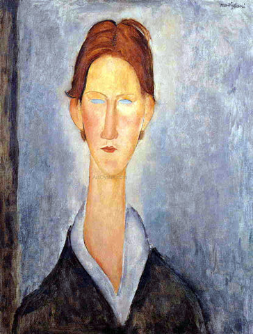 Amedeo Modigliani Young Man (also known as Student) - Hand Painted Oil Painting